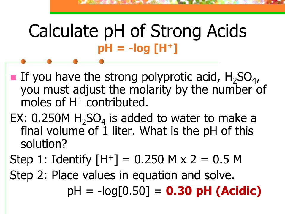 how to find ph of weak acid